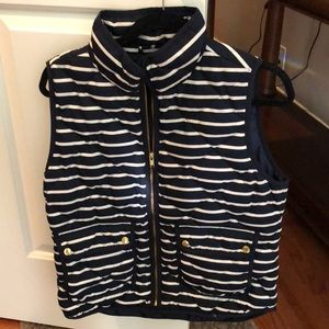 J.Crew navy striped vest M